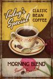 Hete de Prijs van de Fabriek van China verkoopt het Teken van het Tin van de Winkel van de Koffie