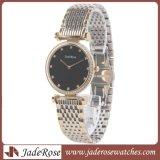 La mujer marca de lujo de la moda brazalete de acero inoxidable señoras reloj de cuarzo vestido