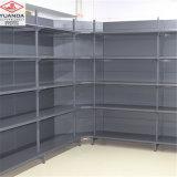 Présentoir à extrémité élevé de mur de couleur de noir d'étagère de supermarché