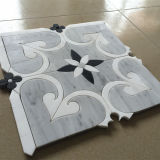 Mosaico Waterjet del marmo del mosaico di figura del fiore di alta qualità