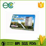 """bolso biodegradable abonable de Kraft del kit de la cuchillería de 6 """" Cpla envuelto para el hotel"""