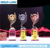 Trophée en cristal de cuvette en métal de propriétaire de trophées de récompense d'événement