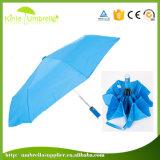 自動Open&Closeの紫外線保護3フォールド21inch LEDの傘