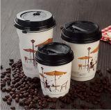 Vente en gros faite sur commande de transporteur/support de cuvette de café de Brown de taille