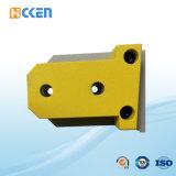 Pezzi meccanici di alluminio di profilo di CNC del rivestimento di colore giallo di precisione di alta qualità