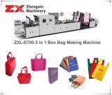 オンラインハンドルAttching (ZXL-E700)が付いている機械を作る非編まれた袋