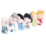 Frühe Ausbildungs-Familien-Plüsch-Finger-Marionette