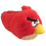 빨간 새 귀여운 견면 벨벳 장난감 단화