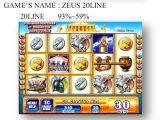 Zeus 30 선  슬롯 게임 기계 동전에 의하여 운영하는 게임 기계 노름 기계