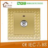 3 переключатель квадратной кнопки шатии 2way кристаллический электрический