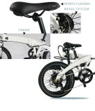 セリウム公認36V 250With350Wの電気自転車の折りたたみ