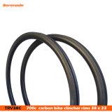 Высокое качество дороги Bike Racing обода 38 мм углерода Clincher 700c колесными дисками