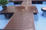 Revestimento ao ar livre facilmente instalado de WPC, Decking composto, Decking impermeável de WPC