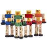 Crianças de madeira Creative transformar a forma de robô Carro Puzzle brinquedos educativos