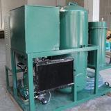 Resíduos de reciclagem de óleo de lubrificação em preto e máquina de refinação