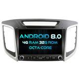 Witson ocho núcleos Android 8.0 alquiler de DVD para Hyundai IX25 / Creta ROM de 4G con pantalla táctil de 1080P 32GB de ROM Pantalla IPS