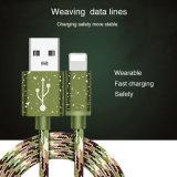 Camo 녹색 3FT 1m 나일론 땋는 마이크로 컴퓨터 USB 충전기 케이블