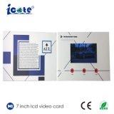 Cartão video do LCD de 7.0 polegadas para o convite do negócio