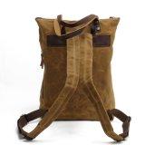 Tela di canapa impermeabile incerata Comping dello zaino della spalla del tessuto della tela di canapa che fa un'escursione il sacchetto dello zaino