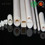 Alta conductividad termal 99.7% tubos de cerámica del alúmina