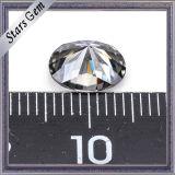 형식 반지를 위한 회색 색깔 타원형에 의하여 잘리는 합성 Moissanite