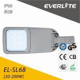 Indicatore luminoso di via solare di Everlite 12V/24V con i CB GS 20W del Ce a 100W