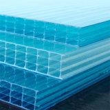 Wand-hohles Polycarbonat-Blatt der China-Fertigung-vier für Gewächshaus