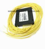 PLC de fibra óptica 1X8 Caixa de plástico divisor para rede sem fio e de aplicação e pode, CCTV