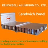Paneles de luz en forma de panal de aluminio color madera y hoja de Panel Sandwich
