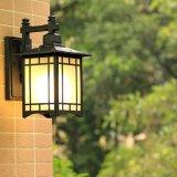 Сбор винограда светильника стеклянной стены американской черноты Antique села напольное водоустойчивое