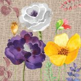 Bella decorazione domestica d'attaccatura per stampa della tela di canapa del fiore