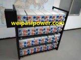 2V800AH OPzV電池によっては、5年の管状の陽極電池UPS EPSの深いサイクルの太陽エネルギー電池の弁によって調整される鉛のAicd電池が保証、>20年の生命ゼリー状になる