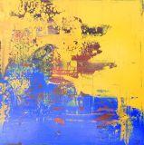 工場卸し売りハンドメイドの普及した多彩で抽象的な油絵