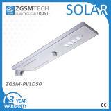 50W indicatore luminoso di via di energia solare LED con la batteria di litio