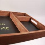 Eco-Friendly Antique Blackboard com base Chalk Servingtray Madeira gravável