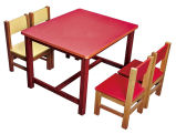 유아원 테이블 의자를 가진 대중적인 정연한 아이 연구 결과 테이블