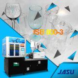 Une machine de moulage automatique de coup d'injection de cuvette de vin rouge d'opération