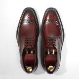 Раунда Toe моды мужчин платья обувь OEM темно коричневых Оксфорд