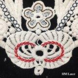 22*16cm broderie florale Collier Collier dentelle de coton Appliques encolure nuptiale Collier Motif fleurs HM2039