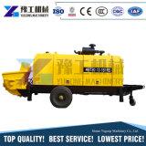 60m3/H de vrachtwagen-Opgezette Concrete Pomp van de dieselmotor Aanhangwagen