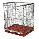 スタック可能ヨーロッパの鋼鉄スタック可能パレット金網の容器の保持の単位