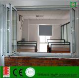 Finestra piegante di alluminio standard dell'Australia con vetro Tempered