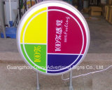 喫茶店の店LEDのライトボックスの表記アクリルLEDの店の印