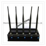 3G 4G все телефонного сигнала блокировки всплывающих окон и подавления беспроводной сети WiFi, на стоящем автомобиле регулируемая 5 полосы Jammer valve/блокировки всплывающих окон для мобильных+3G+Gpsl1+кражи Lojack