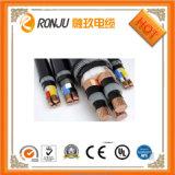 XLPE résistant au feu a isolé le câble d'alimentation électrique engainé par PVC avec le conducteur de cuivre