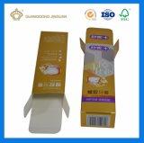 Custom высокое качество печати в сложенном виде зубная паста бумажных упаковочных материалов ящики (серебряный и золотой голографический картон)
