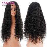 Peluca larga del pelo humano de la peluca llena del cordón de la onda de agua