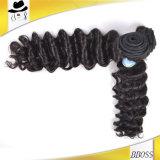 Самый лучший цвет черных волос Weave качества 10A бразильский