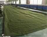 Холстина крышки полиэфира армии зеленая водоустойчивая и шлюпки хлопка