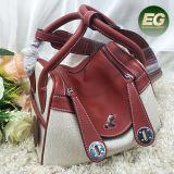 2017 nuovo sacchetto di spalla del Tote di formato delle borse 2 delle signore del cuoio di alta qualità di disegno con colore Emg5196 di contrasto